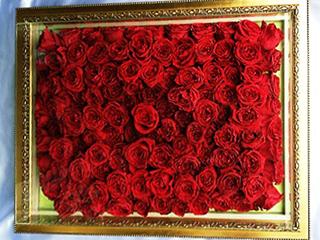 薔薇108本フラージュブーケ